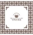 Vector vintage decor frame ornament retro vector image