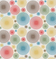 Vintage seamless background with dotted flowers vector image vector image