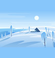 winter picturesque landscape vector image vector image