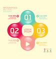 Modern soft color Circle Design template vector image