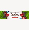 christmas horizontal banner happy new year vector image