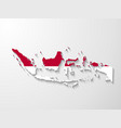 Indonesia country map with shadow effect presenta vector image