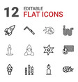 12 fire icons vector image vector image