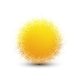 Abstract yellow fluffy isolated sphere with shadow vector image vector image