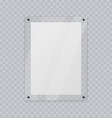 acrylic glass frame plastic frame for poster vector image vector image