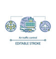 air traffic control concept icon aircraft control vector image
