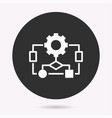 algorithm - icon isolated vector image vector image