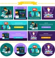 Analysis Innovation Online Consulting Set Tools vector image