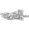 arm chairs text background word cloud concept vector image vector image