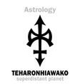 astrology little planet teharonhiawako vector image vector image