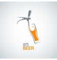 beer tap glass design background vector image vector image