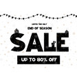 big sale coupon with black calligraphy font vector image vector image