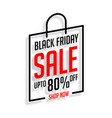 black friday shopping sale banner in line style vector image