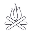 bonfire line icon sign on vector image vector image