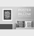 born to be free poster and pillow design template vector image vector image