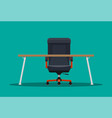 boss or ceo chair and desktop vector image