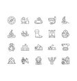 camps line icons signs set outline vector image vector image