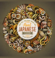 cartoon doodles japan food vector image vector image