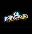 champion 2020 football logo modern professional vector image vector image