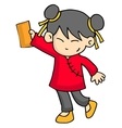 Chracter of girl with envelope vector image vector image