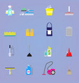 colorful cleaning elements collection vector image vector image