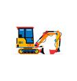 construction machinery mini excavator commercial vector image