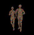 couple running together marathon runner vector image vector image
