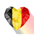 crystal gem jewelry Belgian heart with the flag of vector image