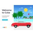 cuba travel poster vector image vector image