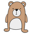 cute little bear on white background vector image vector image