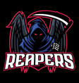 dead mascot reaper with black wings vector image vector image