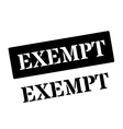 Exempt black rubber stamp on white vector image vector image