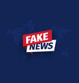 fake news isolated icon sign main news vector image