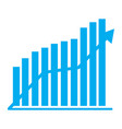 financial chart vector image vector image