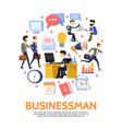 flat business people round concept vector image