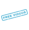 Free Videos Rubber Stamp vector image vector image