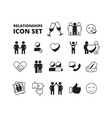 friendship symbols family love couples male vector image