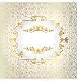Gold antique frame on a light background of vector image vector image
