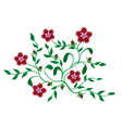 green plants with red flowers vector image vector image
