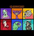halloween holiday cartoon spooky characters set vector image vector image