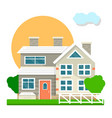 house mansion or villa cottage courtyard view vector image vector image