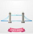 ikon tower bridge pada latar belakang putih vector image