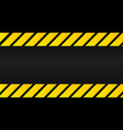 industrial yellow lines on a black background vector image vector image