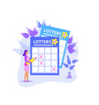 leading girl notes numbers lottery lotto raffle vector image vector image