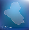 Map of Iraq vector image vector image