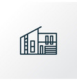 modern house icon line symbol premium quality vector image vector image
