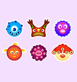 monster stickers vector image vector image