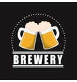 mugs beer brewery poster black background vector image