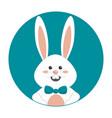 nice happy rabbit cartoon design vector image