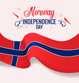 norway independence day banner poster template vector image